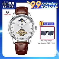 Đồng hồ cơ nam PAGINI dây da PA3399 Thiết kế đặc biệt với lịch mặt trăng, mặt trời Phù hợp đi làm, đi chơi thumbnail