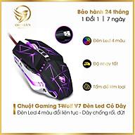 Chuột Máy Tính Có Dây Chuột Gaming T-Wolf V7 Chơi Game Nhạy LED _ Hàng Chính Hãng thumbnail