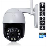 Camera Wifi Ip Quan Sát Ngoài Trời Chống Nước, Ban Đêm Có Màu, Độ Phân Giải 3.0MPX, Xoay 360 Độ CC8031 - Nhập Khẩu thumbnail