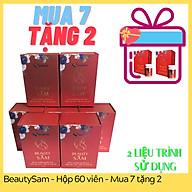 Viên uống đẹp da BeautySâm Sa Sâm Việt [Combo mua 7 tặng 2] - trọn bộ 2 liệu trình sử dụng để cảm nhận hiệu quả về nội tiết tố và sắc đẹp của bạn thumbnail