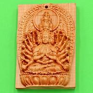 Mặt Phật gỗ ngọc am Thiên Thủ Thiên Nhãn MGPBM8 thumbnail