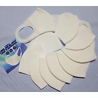 Set 10 cái khẩu trang 2 lớp vải không dệt dành cho nam nữ - giặt lại dùng được nhiều lần thumbnail