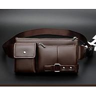 Túi Đeo Chéo Nam Bằng Da Cao Cấp Retro (27 x 15cm) _ Tặng Kèm Móc Khóa Dây da thumbnail