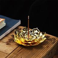 Đế cắm nhang vòng đặt hương cây hình hoa sen lớn thắp hương phụ kiện thác khói thumbnail