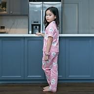 Bộ Pijama bé gái mặc nhà áo cộc quần dài thumbnail