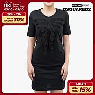 DSQUARED2 - Đầm mini tay ngắn cổ tròn Grosgrain S73CU0240-900 thumbnail