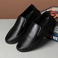 Giày Lười Da Nam, Giày Công Sở Nam, Da Dập Công Nghệ Mới Cá Tính, Đế Khâu Cực Kỳ Tỉ Mỉ Chắc Chắn GD14 thumbnail