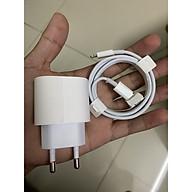 Adapter Củ sạc nhanh Iphone 18W + cáp dữ liệu Type C to lightning ( Tặng kèm chọt sim inox) dùng cho Iphone 8, X,XS,XSmax,11,11 Promax, IPad Pro kiểu chân tròn hàn Quốc tặng que chọt sim (Kèm ảnh thật) thumbnail