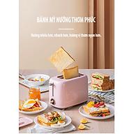 Máy nướng bánh mỳ mini C02W1HC (2 khe nướng lớn hơn) hàng nội địa thumbnail