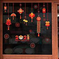 Decal trang trí nhà cửa, tết- Dây treo đèn lồng pháo thumbnail