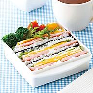 Hộp dùng làm Onigirazu và chia đồ ăn an toàn cho bé - Hàng nội địa Nhật thumbnail