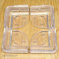 Bộ 4 miếng silicon bọc cạnh bàn (3.5 x 2 cm) bảo vệ bé yêu tránh va đập vào góc bàn sắc nhọn thumbnail