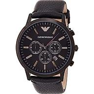 Emporio Armani Men s AR2461 Dress Black Leather Watch thumbnail