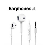 Tai Nghe có dây Nhét Tai Dành Cho iPhone iPad Jack 3.5mm, âm thanh cực đỉnh, Hàng Chính Hãng thumbnail