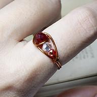 Nhẫn pha lê đẹp cho bạn gái kiểu dáng trẻ trung năng động 05892-05896 thumbnail