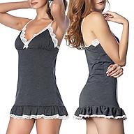 DB020 - Đầm ngủ 2 dây siêu dễ thương, sexy, có thể làm đồ mặc nhà, đi chơi dạo phố thumbnail