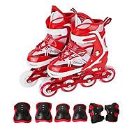 Combo giày trượt patin K600 Đỏ + Bộ bảo hộ tay chân thumbnail