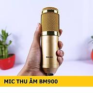 Micro Thu Âm Chuyên Nghiệp BM900 chống ồn, live stream, Hát Karaoke quay video, ghi âm, Vlog, Chơi game, trò chuyện qua Zoom Tương thích smartphone, máy tính bảng, máy tính để bàn, laptop, TN Bluetooth Siêu Bass Có Mic Đàm Thoại thumbnail