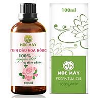 Tinh dầu hoa Hồng 100ml Mộc Mây - tinh dầu thiên nhiên nguyên chất 100% - chất lượng và mùi hương vượt trội thumbnail