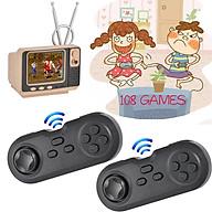 Máy chơi game điện tử mini tay cầm không dây GV108 với 108 games, kết nối tivi, bộ điều khiển game 8 bit console ( Mới ) thumbnail