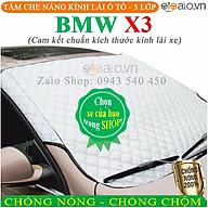 Tấm che chắn nắng kính lái dành cho ô tô BMW X3 CAO CẤP 3 Lớp Chắn Nắng Cản Nhiệt thumbnail