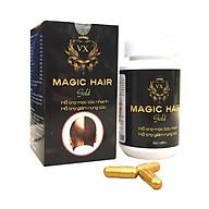 Viên uống hỗ trợ mọc tóc nhanh chữa hói đầu Magic Hair Gold (Trị rụng tóc, rụng tóc sau sinh, giúp mọc tóc nhanh, ngăn tóc bạc sớm) thumbnail