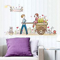 Decal dán tường tình yêu lãng mạn cho bé ZOOYOO AY7094 thumbnail
