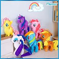Gấu bông Ngựa Pony cao cấp - Hàng chính hãng Memon - Đồ chơi thú nhồi bông Ngựa Pony, Chất liệu Bông gòn PP 3D tinh khiết mềm mịn, đàn hồi đa chiều, bền đẹp, an toàn cho người sử dụng thumbnail