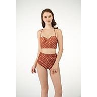 BIKINI PASSPORT - Bikini Lưng cao nhún, áo gọng cup ngang - Nâu - BS097_BR thumbnail