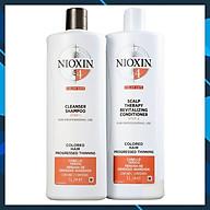 Bộ dầu gội xả Nioxin 4 Colored Hair Progressed Thinning cho tóc nhuộm có dấu hiệu thưa rụng Mỹ 1000ml thumbnail