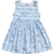 Đầm gài nút vai sọc xanh họa tiết Alice Cục Kẹo T72010 thumbnail