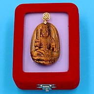 Mặt dây chuyền Phật Bất Động Minh Vương - đá mắt hổ 5cm - kèm hộp nhung - tuổi Dậu thumbnail