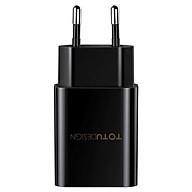 Sạc Totu 2 Cổng USB 12W Black- Hàng nhập khẩu thumbnail