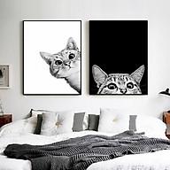 Bộ 2 Tranh Trang Trí 2 chú mèo - Tranh Canvas Treo Tường thumbnail