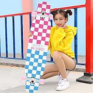 Ván Trượt Thể Thao Sport & Dancing Longboard Skating 107 cm - Ván Trượt Có Nhám Chống Trượt, Ván Trượt Gỗ Chống Nước Cực Tốt Chịu Lực Tốt, Ván trượt Nữ thumbnail