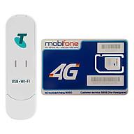USB Phát Wifi 3G ZTE MF70 21.6Mbps + Sim Mobifone 3G 4G (60GB Tháng) - Hàng chính hãng thumbnail
