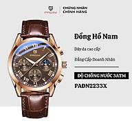 Đồng hồ nam PAGINI dây da 6 kim Kính đổi màu Thiết kế sang trọng, lịch lãm PADN2233X thumbnail