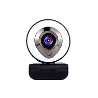 Webcam Multi Stage Ring Supplementary Light Camera 1080P HD Video AF Autofocus Webcam Automatic Fill Light Black thumbnail