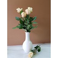 [Đá tự nhiên] Bình cắm hoa bằng đá màu Trắng thumbnail