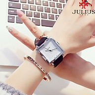Đồng Hồ Nữ Julius Hàn Quốc JA354A Dây Da Cá Tính thumbnail