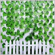 Set 12 dây lá nho xanh trang trí nhà cửa,quán cafe, sân vườn, nhà hàng thumbnail