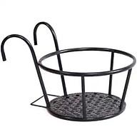 Giỏ treo chậu hoa ban công hình tròn bằng sắt màu đen tiện lợi thumbnail