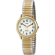 Timex Women s T2H491 Easy Reader Two-Tone Stainless Steel Expansion Band Watch thumbnail