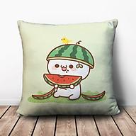 Gối Ôm Vuông Bánh Bao Cỏ Ăn Dưa Hấu GVCT673 (36 x 36 cm) thumbnail