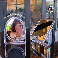 Gương Hai mặt 360Độ Gương soi trang điểm để bàn hình chữ nhật- hình tròn 18x21cm - Gương để bàn, Gương soi, Gương gấp thumbnail