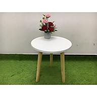Bàn tròn sofa phòng khách 40x45, bàn trà, bàn coffee, cafe, cà phê, bàn gỗ sivali01 thumbnail