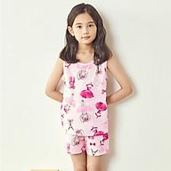 Đồ bộ sát nách cotton mặc nhà mùa hè cho bé gái Unifriend Uni0913 size 2-10 tuổi thumbnail