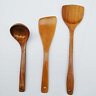 Dụng cụ nhà bếp - combo 3 món bằng gỗ tự nhiên vá sạn gỗ thìa gỗ tự nhiên mã CB.DCNB3 thumbnail