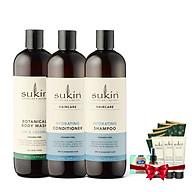Bộ Sản Phẩm Ẩm Tóc Sạch Da 1 Dầu Gội Dưỡng Ẩm Hydrating Shampoo 500ML & 1 Dầu Xả Dưỡng Ẩm Hydrating Conditioner 500ML & 1 Sữa Tắm Body Wash Lime&Coconut 500ML thumbnail
