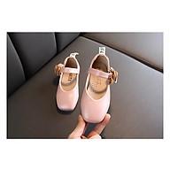 giày búp bê bé gái mũi vuông bông bên hông thumbnail